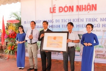 Lễ đón nhận bằng xếp hạng di tich kiến trúc nghệ thuật Thanh Minh Tự và Miếu Ngũ Hành của UBND